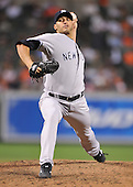 Baltimore, MD - August 31, 2009 -- New York Yankees pitcher Andy Pettitte (46) in action in the eighth inning against the Baltimore Orioles at Oriole Park at Camden Yards in Baltimore, MD on Monday, August 31, 2009.  The Yankees won the game 5 - 1..Credit: Ron Sachs / CNP.(RESTRICTION: NO New York or New Jersey Newspapers or newspapers within a 75 mile radius of New York City)