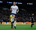 Harry Kane of Tottenham celebrates scoring the second goal during the premier league match at Wembley Stadium, London. Picture date 30th April 2018. Picture credit should read: David Klein/Sportimage
