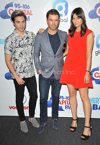 George Shelley, Dave Berry &amp; Lilah Parsons at the Capital FM Summertime Ball in aid of the Help a London Child charity, Wembley Stadium, Wembley, London, England, UK, on Saturday 11 June 2016.<br /> CAP/CAN<br /> &copy;CAN/Capital Pictures /MediaPunch ***NORTH AND SOUTH AMERICA ONLY***
