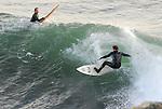 Surfing Steamer Lane in Santa Cruz