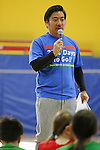 Ken Masui, MARCH 5, 2015 : Tokyo 2020 Organising Committee holds a promotion event for the Tokyo 2020 Paralympic games at Tokyo International School in Tokyo, Japan. This event took place 2000 days before the Tokyo 2020 Paralympic games. (Photo by Yusuke Nakanishi/AFLO SPORT)
