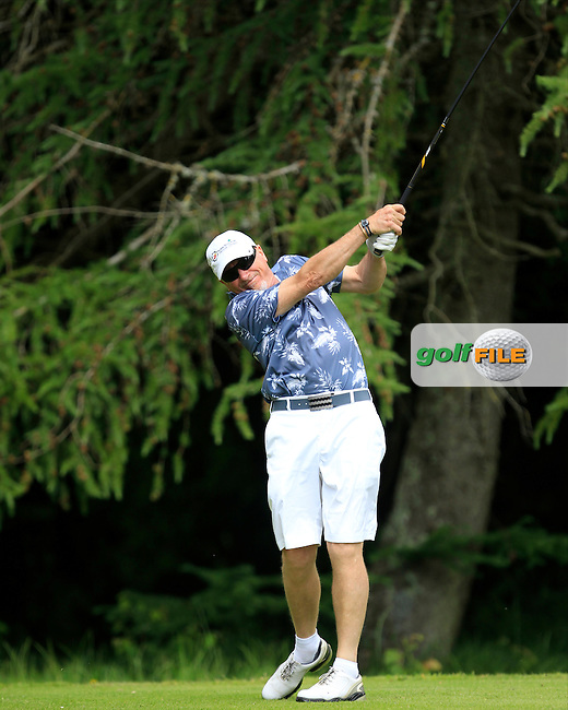 Nigel Duke (Killiney) on the 8th tee during Round 1 of the Leinster Seniors Amateur Open Championship at Enniscorthy Golf Club on Tuesday 23rd June 2015.<br /> Picture:  Thos Caffrey / www.golffile.ie