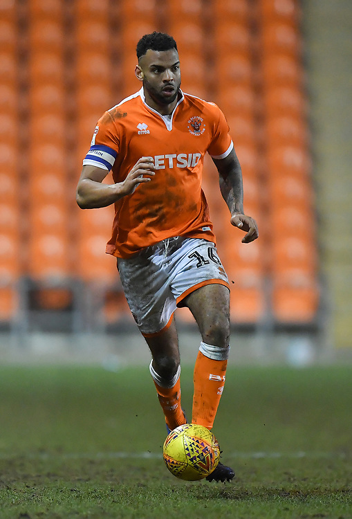 Blackpool's Curtis Tilt<br /> <br /> Photographer Dave Howarth/CameraSport<br /> <br /> The EFL Sky Bet League One - Blackpool v Wycombe Wanderers - Tuesday 29th January 2019 - Bloomfield Road - Blackpool<br /> <br /> World Copyright © 2019 CameraSport. All rights reserved. 43 Linden Ave. Countesthorpe. Leicester. England. LE8 5PG - Tel: +44 (0) 116 277 4147 - admin@camerasport.com - www.camerasport.com