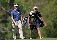 Ben Evans (ENG) on the 18th fairway during Round 1 of the ISPS Handa World Super 6 Perth at Lake Karrinyup Country Club on the Thursday 8th February 2018.<br /> Picture:  Thos Caffrey / www.golffile.ie<br /> <br /> All photo usage must carry mandatory copyright credit (&copy; Golffile | Thos Caffrey)