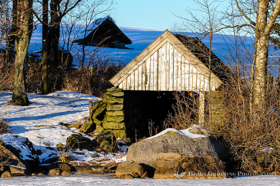 Norway, Stavanger. Shed at Store Stokkavatn, close to the center of Stavanger.