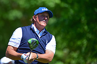 Phil Mickelson (USA) watches his tee shot on 2 during round 2 of the Shell Houston Open, Golf Club of Houston, Houston, Texas, USA. 3/31/2017.<br /> Picture: Golffile | Ken Murray<br /> <br /> <br /> All photo usage must carry mandatory copyright credit (&copy; Golffile | Ken Murray)