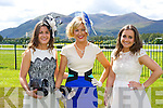 Katie O'Connor Ballyhar, Mairead Lane-Cronin Brosna and Maura O'Connor Ballyhar show off their style at Killarney Races Ladies day on Saturday