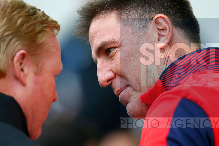 Sevilla's Manager Eduardo Berizzo (R) before the pre season friendly match at Goodison Park Stadium, Liverpool. Picture date 6th August 2017. Picture credit should read: Paul Thomas/Sportimage