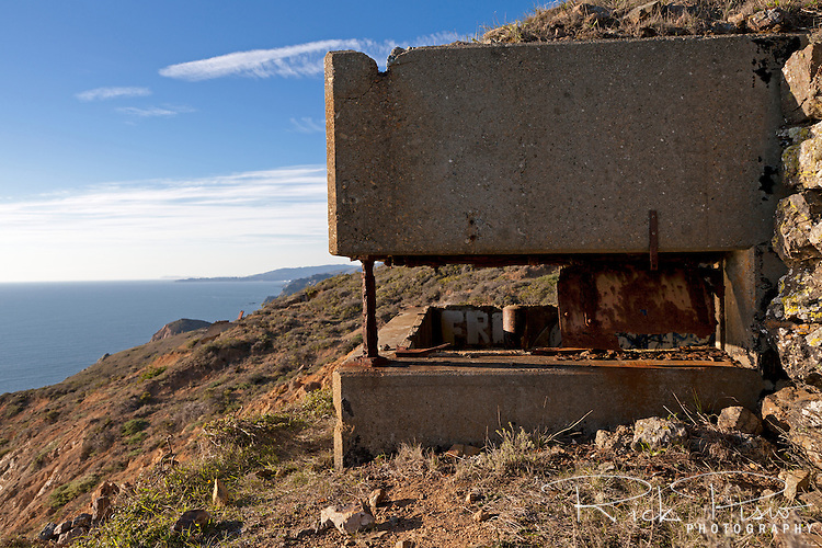 A lookout post near Battery Townsley, a relic from World War II, at the Marin Headlands and Golden Gate National Recreation Area.