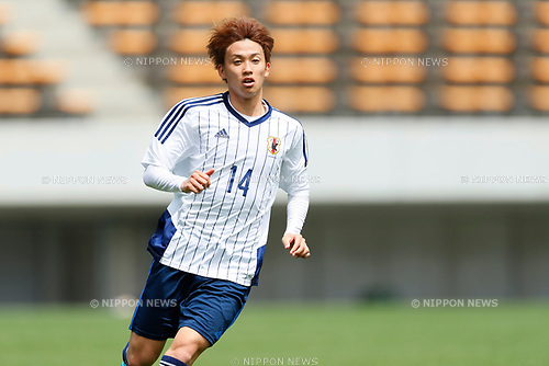 Tsukasa Morishima (JPN), <br /> APRIL 18, 2017 - Football / Soccer : <br /> U-20 Japan National team training match <br /> between U-20 - JEF United Chiba <br /> in Chiba, Japan. <br /> (Photo by Yohei Osada/AFLO SPORT)