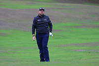 Shane Lowry (IRL) on the 1st fairway during Round 4 of the Sky Sports British Masters at Walton Heath Golf Club in Tadworth, Surrey, England on Sunday 14th Oct 2018.<br />