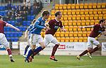 St Johnstone v Hearts....24.03.12   SPL.Murray Davidson makes it 1-1.Picture by Graeme Hart..Copyright Perthshire Picture Agency.Tel: 01738 623350  Mobile: 07990 594431