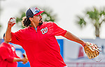 5 March 2015: Washington Nationals third baseman Anthony Rendon fields grounders prior to a Spring Training game against the New York Mets at Space Coast Stadium in Viera, Florida. The Nationals rallied to defeat the Mets 5-4 in Grapefruit League play. Mandatory Credit: Ed Wolfstein Photo *** RAW (NEF) Image File Available ***