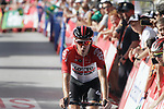 Jelle Wallays (BEL) Lotto-Soudal crosses the finish line in 6th place at the end of Stage 4 of the La Vuelta 2018, running 162km from Velez-Malaga to Alfacar, Sierra de la Alfaguara, Andalucia, Spain. 28th August 2018.<br /> Picture: Colin Flockton   Cyclefile<br /> <br /> <br /> All photos usage must carry mandatory copyright credit (&copy; Cyclefile   Colin Flockton)