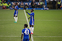 Kurt Zouma of Chelsea bosses the defence during the The Checkatrade Trophy match between Chelsea U23 and Oxford United at Stamford Bridge, London, England on 8 November 2016. Photo by Andy Rowland.