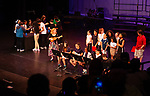 WATERBURY,  CT-052019JS10- Students from Tinker Elementary School preform &quot;The Cups Song: When I'm Gone&quot; during the Waterbury Public School's Celebration Community Through the Arts II district-wide talent show held Monday at the Palace Theater in Waterbury. <br /> Jim Shannon Republican American