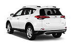 Car pictures of rear three quarter view of 2018 Toyota RAV4 Hybrid-Limited-4x4 5 Door SUV Angular Rear