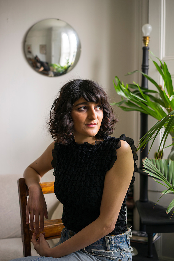 "Aisha Zia, Playwright, photgraphed at her home in East London. Her play ""No Guts, No Heart, No Glory "" has been a huge hit"