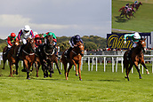 14th September 2017, Doncaster Racecourse, Doncaster, England; The William Hill St Ledger Festival, DFS Ladies Day;  P.J McDonald on Laurens wins the William Hill May Hill Stakes