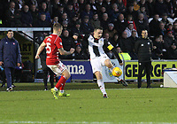 Stephen McGinn shooting in the St Mirren v Hamilton Academical Scottish Professional Football League Ladbrokes Premiership match played at the Simple Digital Arena, Paisley on 1.12.18.