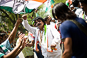 Congress party workers celebrate as the results are declared and their party's victory at the Indian general elections outside the All India Congress Committee office in New Delhi, India. .Congress party workers celebrate as the results are declared and their party's victory at the Indian general elections outside the All India Congress Committee office in New Delhi, India. ..The trends reported by state TV showed Congress ahead in 245 seats, the BJP in 160 and the Third Front in 60. Congress supporters are seen celebrating in Delhi.Congress party workers celebrate as the results are declared and their party's victory at the Indian general elections outside the All India Congress Committee office in New Delhi, India. ..India's governing Congress party was headed to a resounding victory Saturday, May 16th 2009 in the monthlong national elections. The trends reported by state TV showed Congress ahead in 245 seats, the BJP in 160 and the Third Front in 60. Congress supporters are seen celebrating in Delhi..