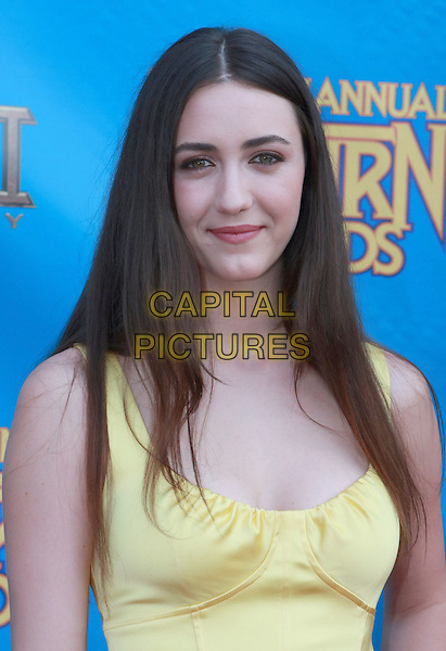 MADELINE ZIMA .34th Annual Saturn Awards held at Universal Hilton Hotel, Universal City, California, USA..June 24th, 2008.headshot portrait yellow  .CAP/ADM/CH.©Charles Harris/AdMedia/Capital Pictures