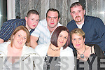 CRAIC: Enjoying the craic at the Gael Scoil, Lios Tuathail dance in the Listowel Arms Hotel on Friday night were Bridget O'Connor, Sandra and Mary O'Gorman, Paul O'Gorman, Tony Stack and Kenneth O'Gorman.   Copyright Kerry's Eye 2008
