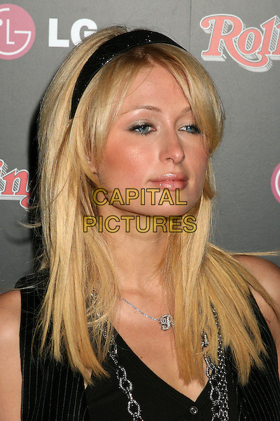 PARIS HILTON.Rolling Stone Magazine Celebrates the 20th Annual HOT LIST at the Sofitel Hotel's Stone Rose Lounge, Los Angeles, California, USA..October 3rd, 2006.Ref: ADM/BP.headshot portrait black alice band.www.capitalpictures.com.sales@capitalpictures.com.©Byron Purvis/AdMedia/Capital Pictures.