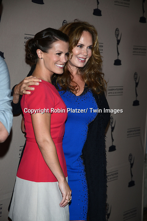 Melissa Claire Egan and Catherine Bach  attends the Academy Of Television Arts & Science Daytime Programming  Peer Group Celebration for the 40th Annual Daytime Emmy Awards Nominees party on June 13, 2013 at the Montage Beverly Hills in Beverly Hills, California.
