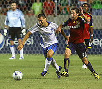 Antonio Ribeiro, Ned Grabavoy in the San Jose Earthquakes @ Real Salt Lake 1-1 draw at Rio Tinto Stadium in Sandy, Utah on July 03, 2009