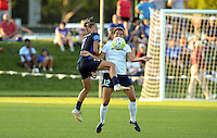 Kansas City, MO - Saturday July 16, 2016: Mandy Laddish, Katie Stengel during a regular season National Women's Soccer League (NWSL) match at Swope Soccer Village.