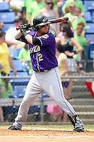 July 7th 2008:  Second baseman Brandon Pinckney of the Akron Aeros, Class-AA affiliate of the Cleveland Indians, during a game at NYSEG Stadium in Binghamton, NY.  Photo by:  Mike Janes/Four Seam Images