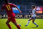 31.08.2019, Auestadion, Kassel, GER, DFB Frauen, EM Qualifikation, Deutschland vs Montenegro , DFB REGULATIONS PROHIBIT ANY USE OF PHOTOGRAPHS AS IMAGE SEQUENCES AND/OR QUASI-VIDEO<br /> <br /> im Bild | picture shows:<br /> Einzelaktion Sara Doorsoun (DFB Frauen #23), <br /> <br /> Foto © nordphoto / Rauch
