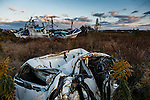 Namie, Fukushima prefecture, November 12 2013 - Ships and cars destroyed during the tsumani lying washed ashore in Ukedo, the former port of Namie.