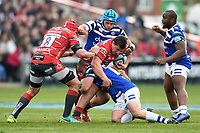 Val Rapava Ruskin of Gloucester Rugby takes on the Bath Rugby defence. Gallagher Premiership match, between Gloucester Rugby and Bath Rugby on April 13, 2019 at Kingsholm Stadium in Gloucester, England. Photo by: Patrick Khachfe / Onside Images
