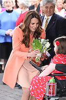 Kate, Duchess Of Cambridge visits Naomi House Children's Hospice - UK
