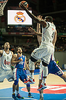 Real Madrid´s K.C. Rivers 2014-15 Euroleague Basketball match between Real Madrid and Anadolu Efes at Palacio de los Deportes stadium in Madrid, Spain. December 18, 2014. (ALTERPHOTOS/Luis Fernandez) /NortePhoto /NortePhoto.com