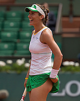 ANDREA PETKOVIC  (GER)<br /> <br /> Tennis - French Open 2014 -  Toland Garros - Paris -  ATP-WTA - ITF - 2014  - France - <br /> 2nd June 2014. <br /> <br /> &copy; AMN IMAGES