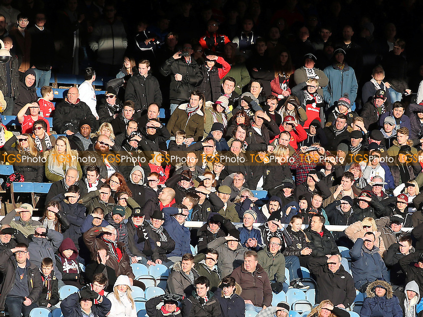 MK Dons fans look on in the first half during Peterborough United vs MK Dons, Sky Bet EFL League 1 Football at London Road on 28th January 2017