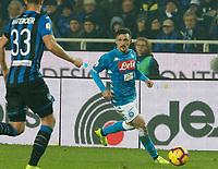 Mario Rui of Napoli  during the  italian serie a soccer match,Atalanta - SSC Napoli at  the Atleti azure d'italia   stadium in Bergamo Italy , December 03, 2018