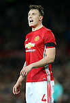 Phil Jones of Manchester United during the English League Cup Quarter Final match at Old Trafford  Stadium, Manchester. Picture date: November 30th, 2016. Pic Simon Bellis/Sportimage