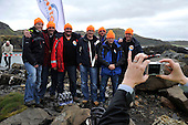 Souvenir picture for a Dutch team who turned up for the World Stone Skimming Championships on Easdale which attracted over 300 entries from all round the world - Easdale is reached by a small open ferry-boat from the Isle of Seil - south of Oban - picture by Donald MacLeod - 25.9.11 - clanmacleod@btinternet.com 07702 319 738 donald-macleod.com