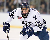 Antoine Laganiere (Yale - 28) - The Yale University Bulldogs defeated the Air Force Academy Falcons 2-1 (OT) in their East Regional Semi-Final matchup on Friday, March 25, 2011, at Webster Bank Arena at Harbor Yard in Bridgeport, Connecticut.