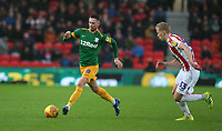 Preston North End's Alan Browne and Stoke City's Lasse Sorensen<br /> <br /> Photographer Stephen White/CameraSport<br /> <br /> The EFL Sky Bet Championship - Stoke City v Preston North End - Saturday 26th January 2019 - bet365 Stadium - Stoke-on-Trent<br /> <br /> World Copyright © 2019 CameraSport. All rights reserved. 43 Linden Ave. Countesthorpe. Leicester. England. LE8 5PG - Tel: +44 (0) 116 277 4147 - admin@camerasport.com - www.camerasport.com