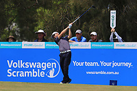 Blake Windred (AUS) on the 3rd tee during Round 3 of the Australian PGA Championship at  RACV Royal Pines Resort, Gold Coast, Queensland, Australia. 21/12/2019.<br /> Picture Thos Caffrey / Golffile.ie<br /> <br /> All photo usage must carry mandatory copyright credit (© Golffile | Thos Caffrey)