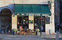 A cafe. Bistrot d'eloi. Bordeaux city, Aquitaine, Gironde, France
