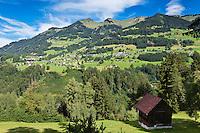 Austria, Vorarlberg, St. Gerold; view from Raggal at St. Gerold | Oesterreich, Vorarlberg, St. Gerold; Blick von Raggal auf St. Gerold