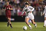 03 December 2010: Stanford's Camille Levin. The Stanford University Cardinal defeated the Boston College Eagles 2-0 at WakeMed Stadium in Cary, North Carolina in an NCAA Women's College Cup semifinal game.
