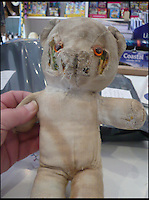 BNPS.co.uk (01202 558833)<br /> Pic: AlicesBearShop/BNPS<br /> <br /> Mary Thompson's bear before her surgery.<br /> <br /> Broken bears and deteriorating dolls from all over the world are being brought back to life by a UK team of dedicated doctors and nurses at one of the last remaining toy hospitals.<br /> <br /> The team at Alice's Bear Shop, a teddy bear and doll hospital in Lyme Regis, Dorset, perform all kinds of 'surgery' from simple restringing and re-stuffing to head re-attachments and complete skin grafts.<br /> <br /> Rikey Austin, 49, opened the hospital in January 2000 but also ran a shop and only repaired one or two toys a month.<br /> <br /> Now she has a four-month waiting list for patients and has had to close the shop to focus on the hospital side of the business.