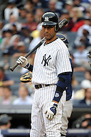 New York Yankees shortstop Derek Jeter #2 during a game against the Tampa Bay Rays at Yankee Stadium on September 21, 2011 in Bronx, NY.  Yankees defeated Rays 4-2.  Tomasso DeRosa/Four Seam Images